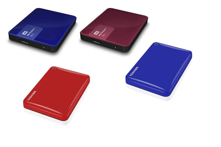 discos duros externos de colores