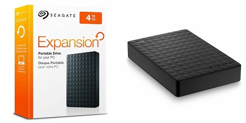 Seagate Expansion Portable External Hard Drive, 4TB