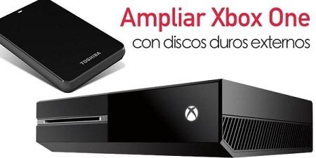 ampliar xbox one con discos duros externo