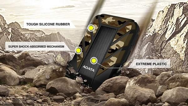 Nivel militar ante los golpes en los dispositivos HD710A Pro y HD710M Pro de ADATA
